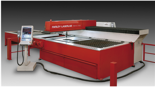 laser cutting machine with CP laser system